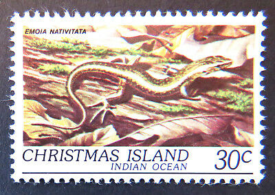 1981 Christmas Island Stamps - Wildlife - Reptiles - Single 30c Skink MNH