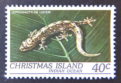 1981 Christmas Island Stamps - Wildlife - Reptiles - Single 40c Gecko MNH