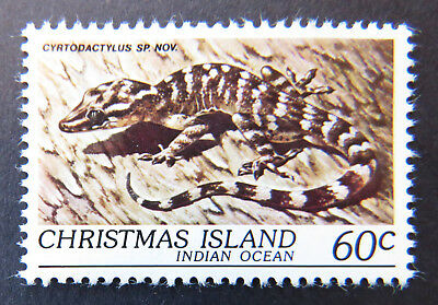 1981 Christmas Island Stamps - Wildlife - Reptiles - Single 60c Gecko MNH
