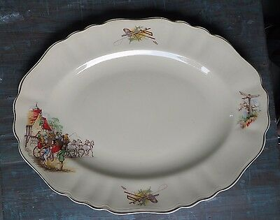 J & G Meakin England Sunshine Decorated Pottery Kitchen Serving Tray Big Oval