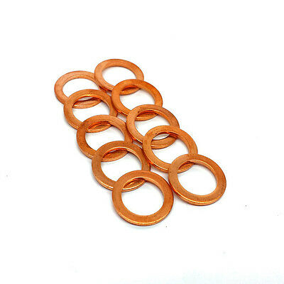 """HEL PERFORMANCE Copper Crush Washers M10, 10mm, 3/8"""" (10 PACK)"""