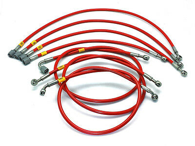 VW GOLF MK1 8V K-JET HEL Performance Stainless Braided Fuel Injector Lines Pipes