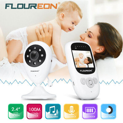 "2.4"" Audio Video Baby Monitor Wireless Camera Night Vision Safety Viewer"