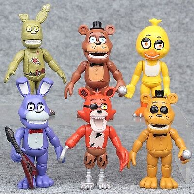6pcs Five Nights At Freddy's FNAF Action Figures Toys Collection Playset Gifts J