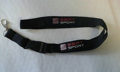 SEAT Black Lanyard Neck Strap ID Card Pass Keyring Mobile Accessories