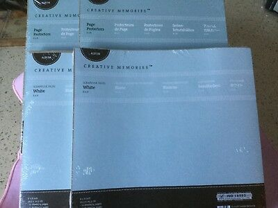 "BRAND NEW CREATIVE MEMORIES BUNDLE-(x2)8""X8"" SCRAPBOOK PAGES & PAGE PROTECTORS"