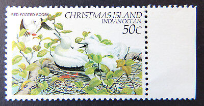1982-1983 Christmas Island Stamps - Birds Definitives - Single 50c Booby-Tab MNH