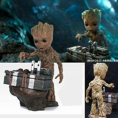Guardians of the Galaxy Vol.2 Baby Groot Push Bomb Button Figure Statue Toy New