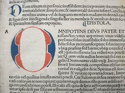 Hieronymus Epistolae Rubricated Incunable Folio - 1497