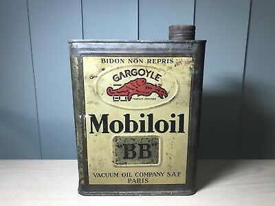 VERY RARE VINTAGE 1930s GARGOYLE MOBIL OIL CAN