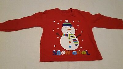 Baby boys Snowman christmas top 12-18 months