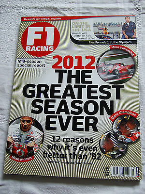 F1 Racing No. 198 August 2012 Vettel Mansell Marc Hynes