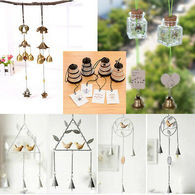 Wind Chimes Bells lighthouse Iron Glass Outdoor Yard Garden Home Decor Ornaments