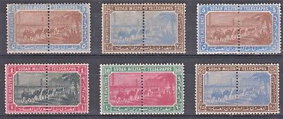 South Sudan Six Pairs of Military Telegraph Mint Stamps
