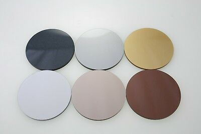 ACRYLIC DISCS GOLD, ROSE GOLD SILVER, BRONZE, SPACE GREY, COPPER BLACK 20mm-90mm