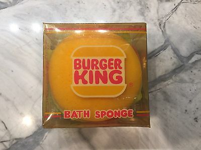 Vintage 1985 Burger King Whopper Bath Sponge McDonald Toy Happy Meal Fast Food