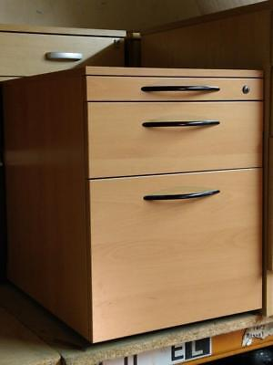 3 Drawer Filing Cabinet Office Storage Unit Chest of Drawers D 59 H 57 W 44 cm