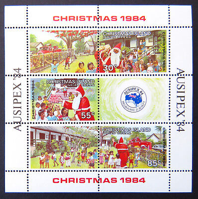 1984 Christmas Island Stamps - Christmas Ausipex '84 Mini Sheet MNH