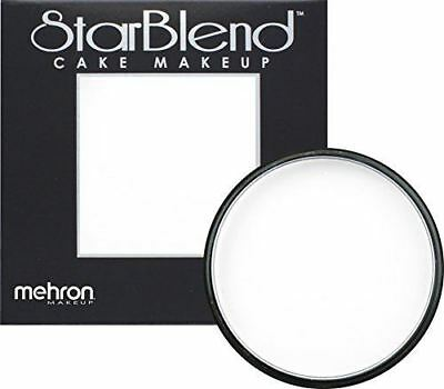 Mehron StarBlend Cake Face Makeup in WHITE  2oz - FAST FREE SHIPPING!!!