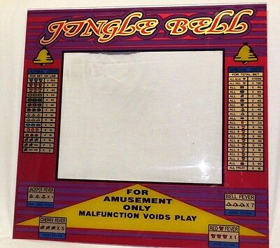 Vintage Video Arcade Screen for Jungle Bell Video Game could be Picture Frame