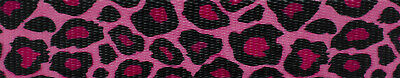 Country Brook Design® 1 Inch Pink Leopard Print Polyester Webbing, 50 Yards