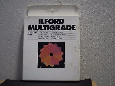Ilford Multigrade Set of 12 Filters 6x6 inches for Darkroom Enlargers