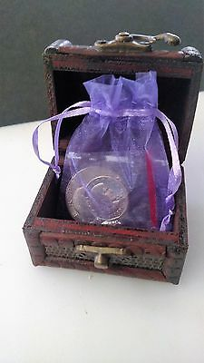 Treasure Chest With A Bag Of Two Nice One Dollar Coins - US Dollar Coins -