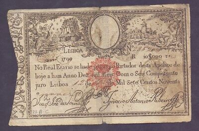 10000 Reis From Portugal 1826