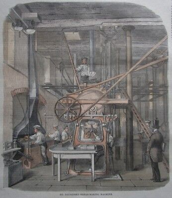 Dr. Dauglish´s Bread-Making Maschine Bäckerei Berufe Brotbacken Grafik 1860