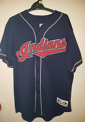 cleveland indians jersey xxl,blue,majestic