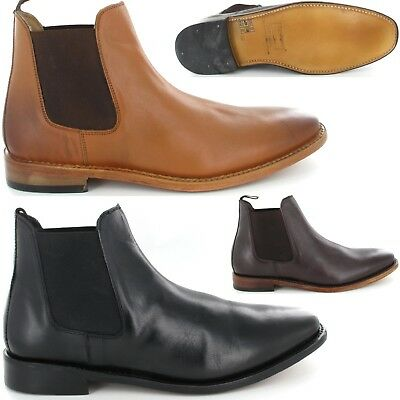 Mens Kensington Classics Chelsea Boots Full Leather Shoes New Size UK 10