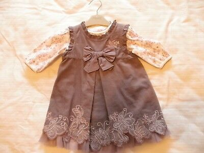 Next Baby Dress 0-3 months. Lilac Pinafore with body