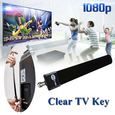 Clear TV Key HDTV FREE TV Digital Indoor Antenna 1080P Ditch Cable US STOCK EB#