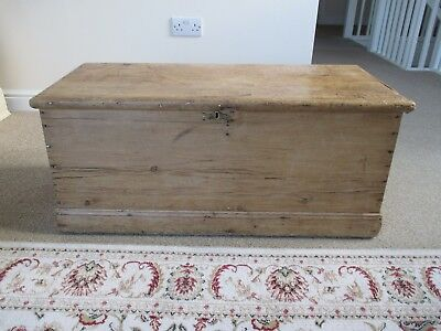 Antique Victorian Pine Chest