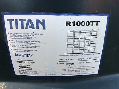 Talking Titan Heating Oil Tank 1000 Litres with Watchman Sonic Level Indicator