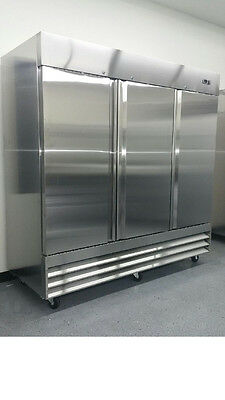 New Triple 3 Door CFD-3FF Stainless Steel Commercial Reach-In Freezer CFD3FF