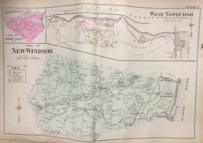 1903 Orange County Ny West Newburgh New Windsor Little Britain Station Atlas Map
