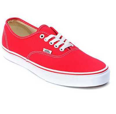 473a4ce21e4 NEW IN BOX Men s 7.5 16 Vans Authentic Red Canvas Skate Shoes ...