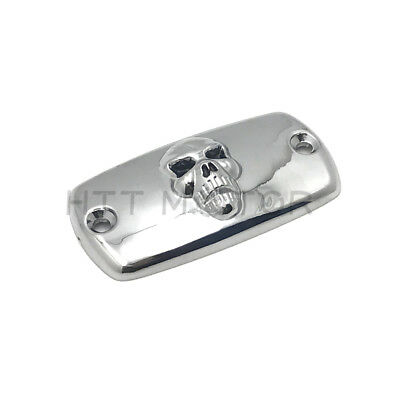 Chrome Brake Fluid Reservoir Cap Skull For Honda 01-12 Goldwing1800/02-12 VTX180