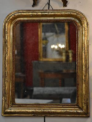 Small 19th century gilt wood Louis Philippe mirror antique French mirror