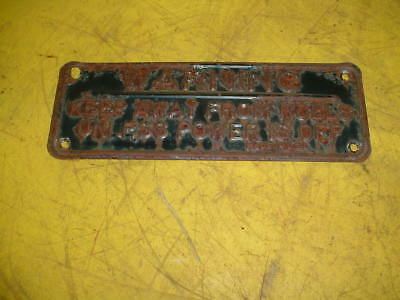 Small Metal Warning Sign Off Gleaner Combine Head