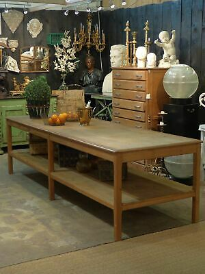 Large French draper's table –  circa 1900's Large kitchen island