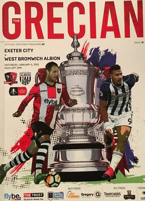 EXETER v WEST BROMWICH ALBION 2017/18 FA CUP MINT PROGRAMME WBA