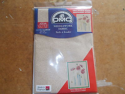"DMC NEEDLEWORK FABRIC AIDA GOLD 5282 14ct 20 x 30"" 50cms x 75cms DC28 5282"