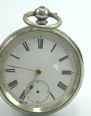 Antique late 19th century silver cased key wind pocket watch