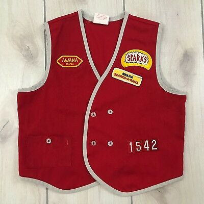 AWANA Clubs Vest Red Large Sparks patch No. 1542