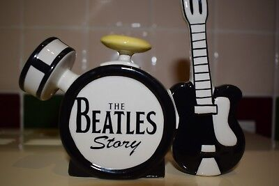 Lorna Bailey The Beatles Story Teapot Limited Edition Black & White