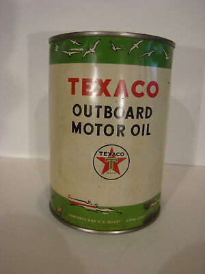 Texaco outboard Motor Oil Can Port Artur Texas marine 2 cycle new nos full