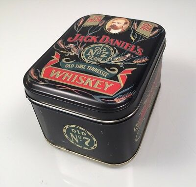 New Authentic Vintage JACK DANIELS Old No.7 Tennesse Whiskey Tin Box w/ Candle