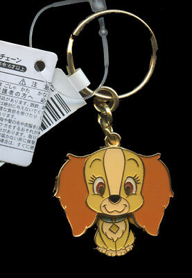 Japan Disney Lady and the Tramp Lady Dog Body Moves Dangle Keyring